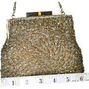 1950's Puffy Framed Beaded Evening Bag