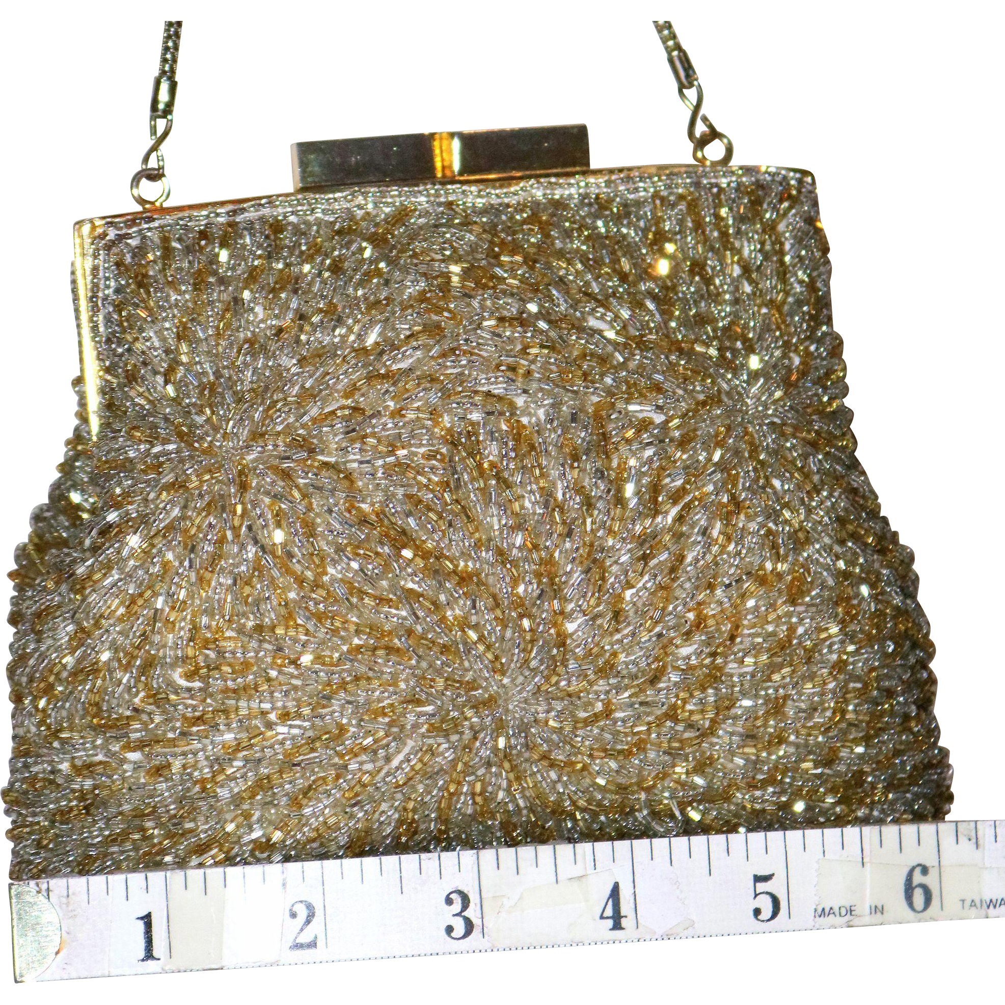 1950's Puffy Framed Beaded Evening Bag