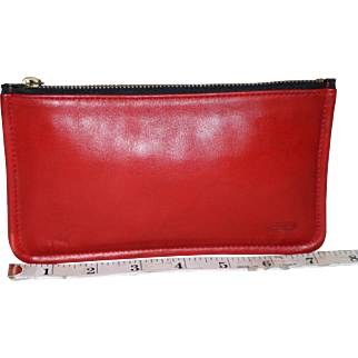 Vintage Coach Clutch Zip-top Wallet