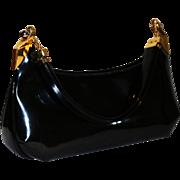 1950's Koret Black Patent Evening Satchel
