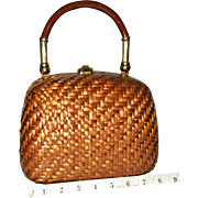 1960's Koret Wicker Box Evening Bag from Italy