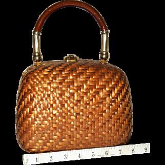 1960's Koret Wicker Box Evening Bag from Italy