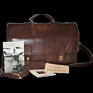 Vintage Coach Prescott Briefcase U.S. Model