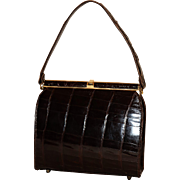 1950's Sterling Alligator Kelly Satchel
