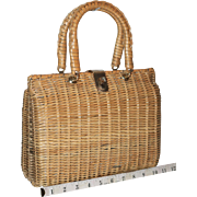 1960's Mister Ernest Wicker Valise  25% OFF