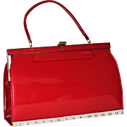 1960 Delicato by Markay Bags Red Patent Leather Kelly