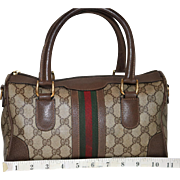 Vintage Gucci Boston Bag Rare Medium Model