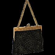 1960's DeLill Caviar Beaded Evening Bag