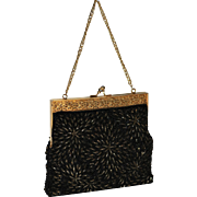 1960's DeLill Caviar Beaded Evening Bag