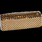 1960's Whiting & Davis Gold Mesh Lipstick Case