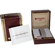 1993 Citizen New Wingman Model JL6004-51E World Time Watch Box and Link
