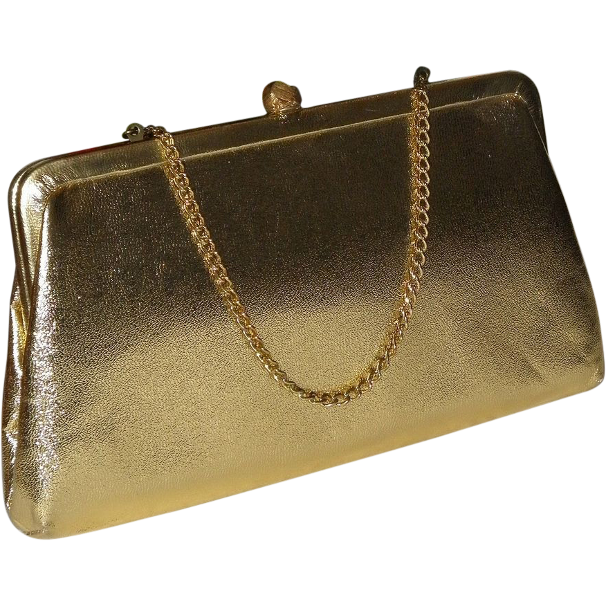 1950's Admiral Gold Lame Convertible Clutch