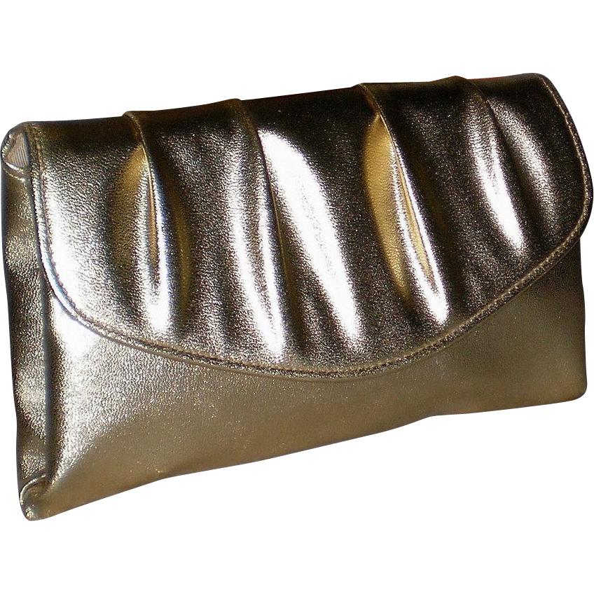 1950's Gold Lame Envelope Clutch