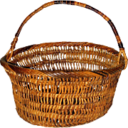 Vintage Wicker Basket Mid-20th Century