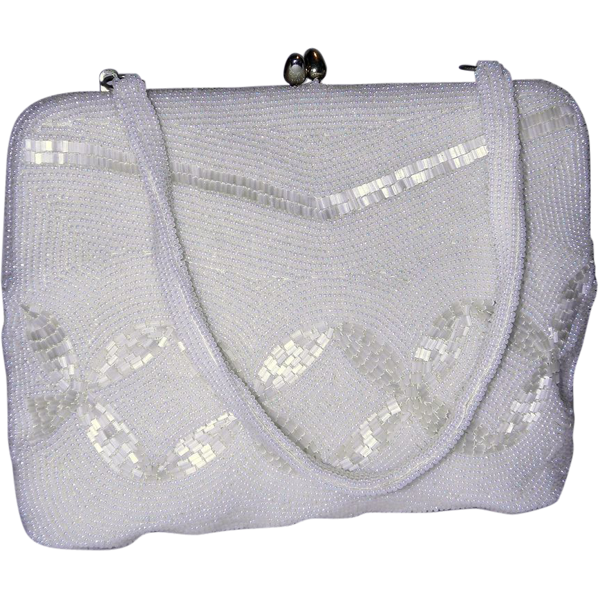 Vintage 1950's Walborg Beaded Evening Bag