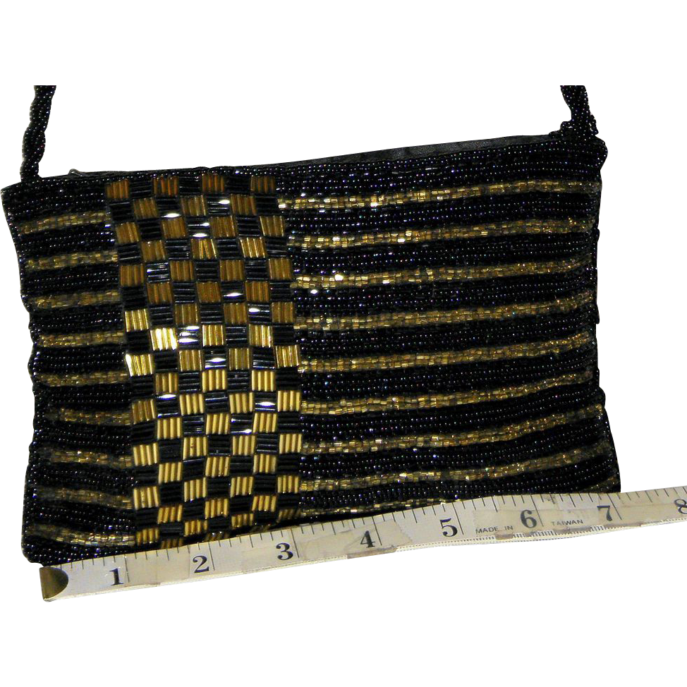 Vintage 1950's Walborg Multi-Beaded Evening Bag NOW 50% OFF