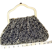 1950's Cordé Bead Reversible Satchel by Lumured.