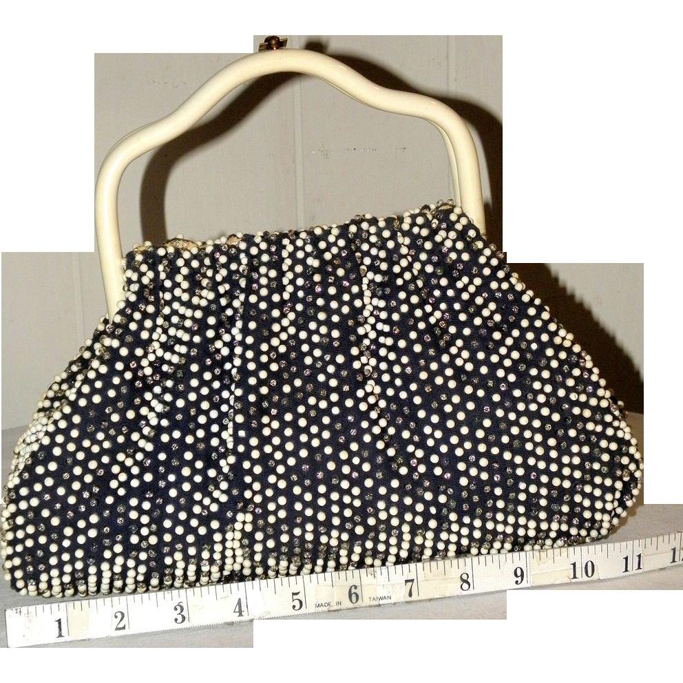 1950's Cordé Bead Reversible Satchel by Lumured.