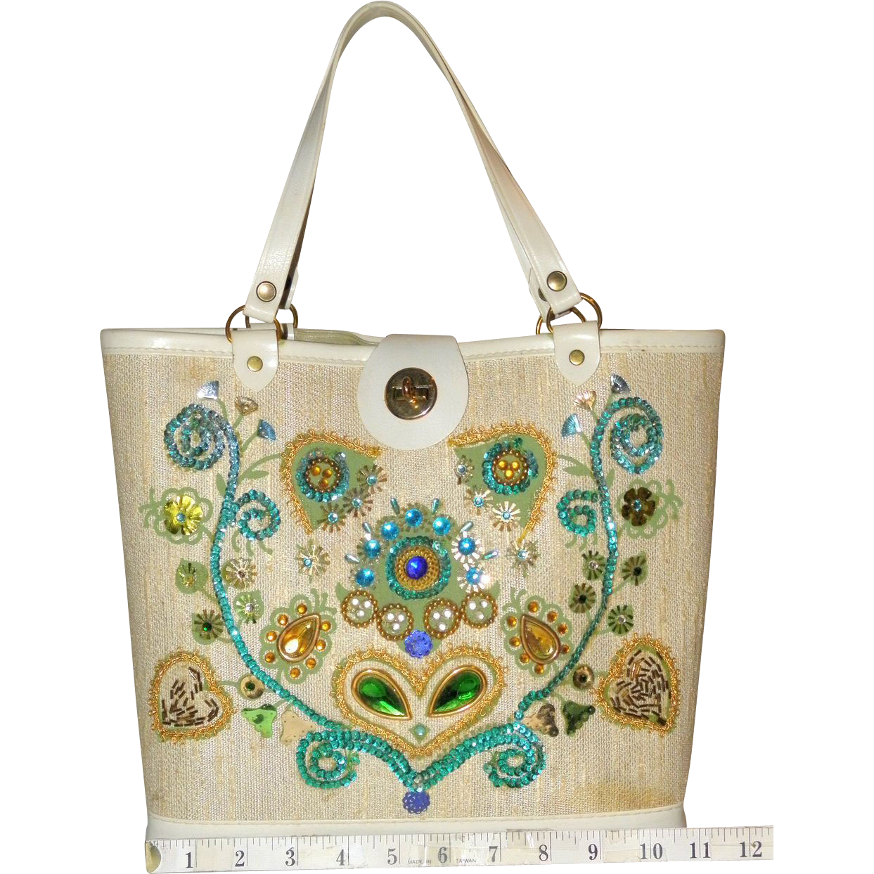 1960's Floral  Tote