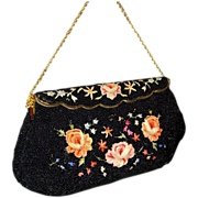 Vintage 1940's Bag by Josef Beaded Bag from France