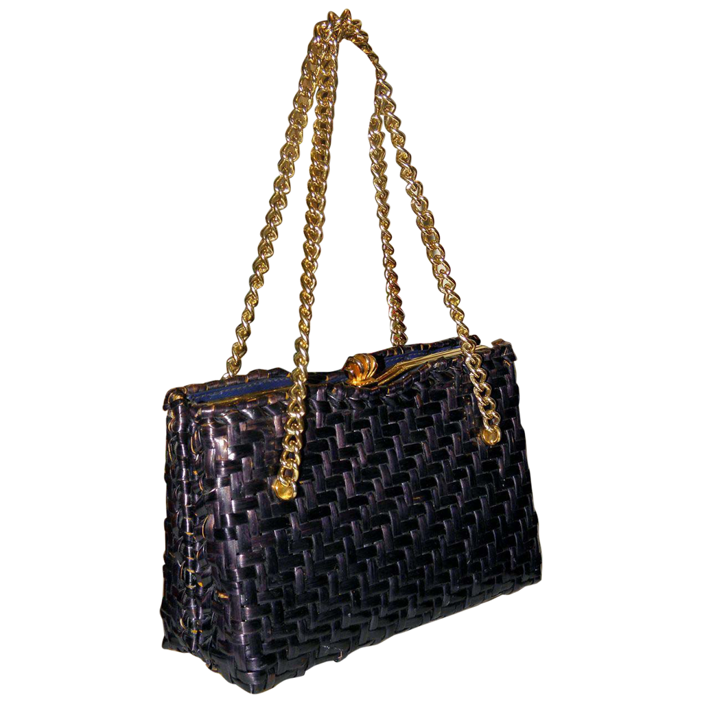 Vintage 1950's Dorian Continental Wicker Evening Bag
