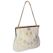 1940's Walborg Swag Floral Evening Bag From Belgium