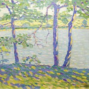 Clarence Raymond Johnson Impressionist Landscape Oil Painting - Three Trees