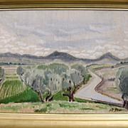 """Henry Varnum Poor Oil Painting """"The River Valley"""""""