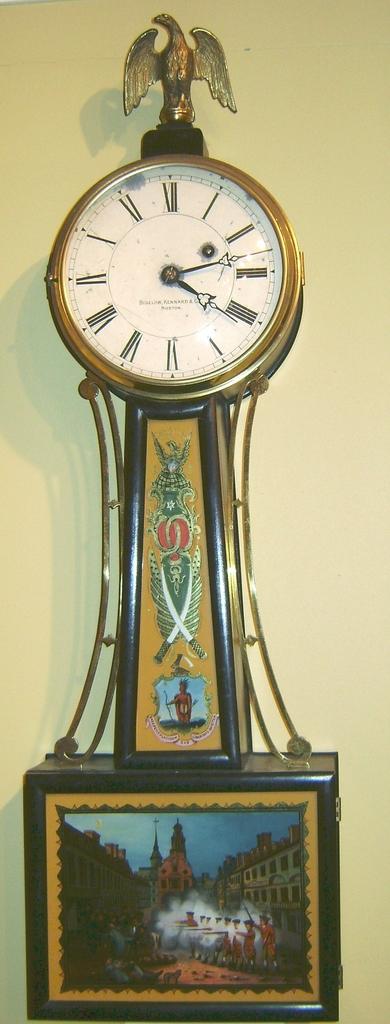 Little & Eastman Banjo Clock Boston, MA c. 1907