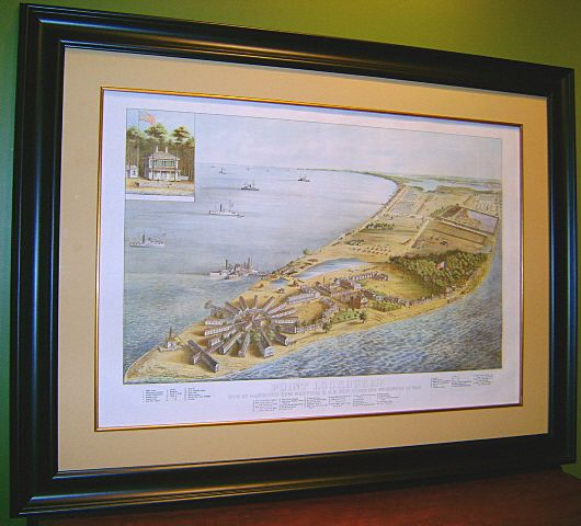 Point Lookout, Maryland Lithograph 1864 Civil War Prison