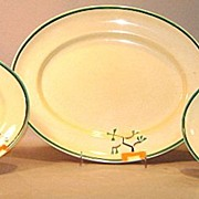 Clarice Cliff Bizarre 'Ravel' Pattern Oval Platters Set