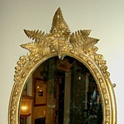 Victorian Gilt Mirror with Ferns & Flowers, England c. 1860