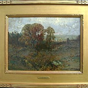 Frederick Ballard Williams Painting Rugged Treed Landscape