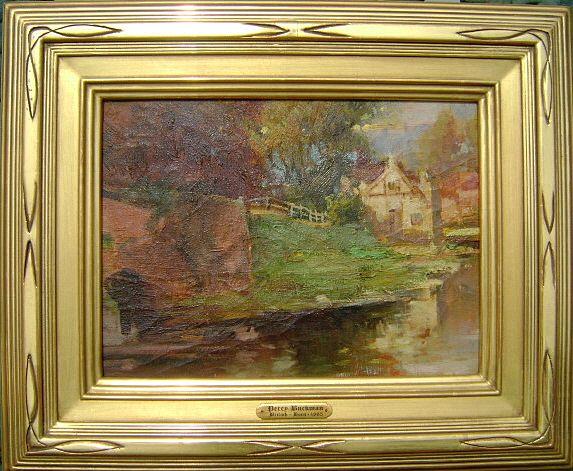 Percy W.I. Buckman Oil Painting Landscape English River Scene