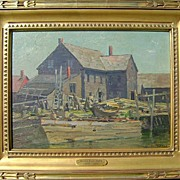 "Alexander Bower Oil Painting Marine Scene ""Noonday Light"""