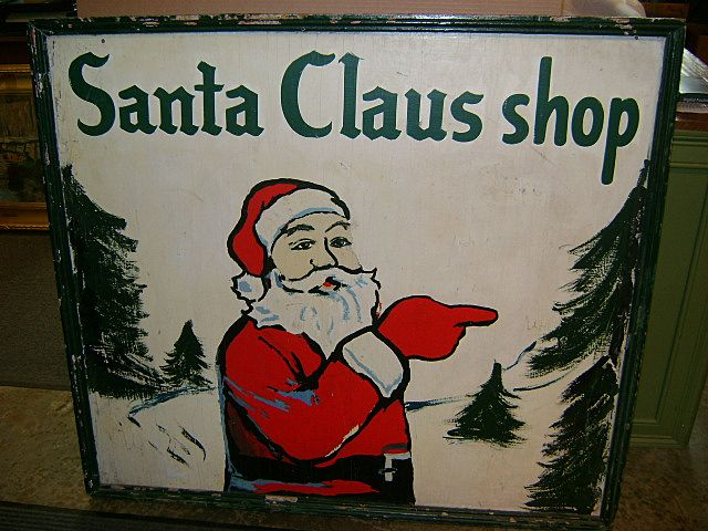 Santa Claus Shop sign