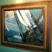 Arthur Saron Sarnoff Oil Painting Sailing Yacht Race