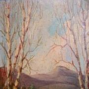 Hamilton Hamilton Oil Painting Mt. Chocorua, NH Landscape