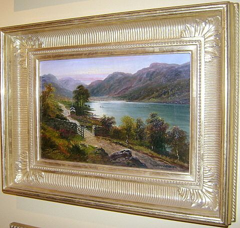 "George Willis Pryce Oil Painting ""Lake Windemere"" 19th c."