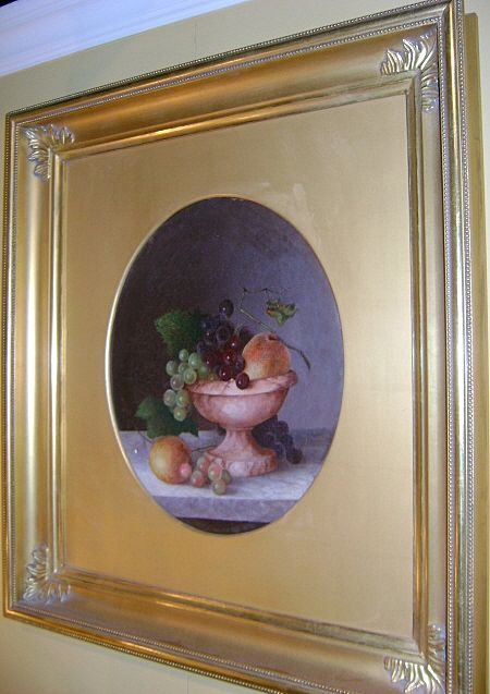 Oil Painting Still Life of Fruit in manner of S. Roesen, 19th c.