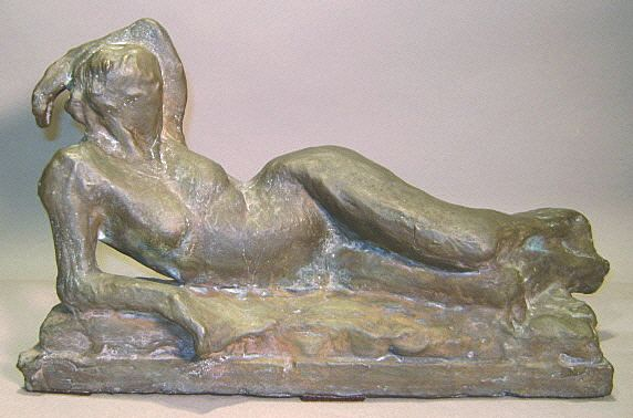 "David Kasman ""Bather"" Bronze Sculpture of 9, 2006"