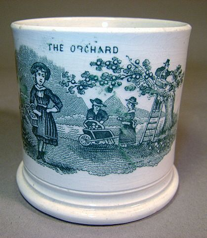 "Green Transfer Child's Mug ""The Orchard"""