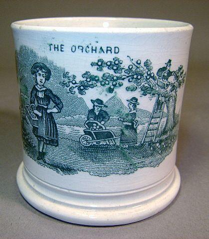 "Green Transfer Child's Mug ""The Orchard"""