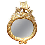 Early 19th c. English George III Gilded Mirror with Eagle