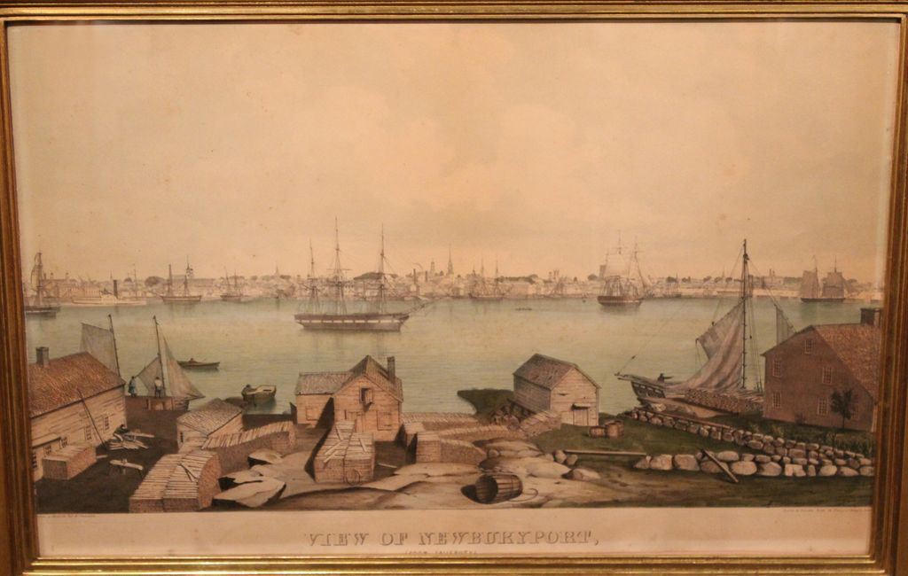 "Fitz Hugh Lane ""View of Newburyport"" Lithograph ca. 1846"