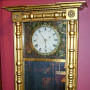 Samuel Abbott Mirror Clock New Hampshire c. 1820