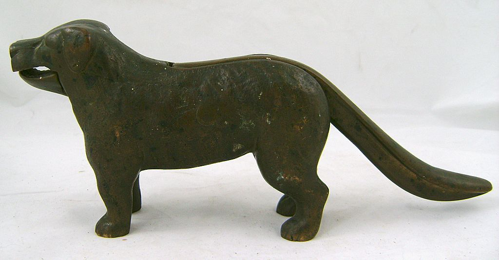 "Brass Nutcracker 12"" Dog Form, Retriever circa 1900"