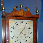 19th c. Ephraim Downes for George Mitchell Pillar & Scroll Clock