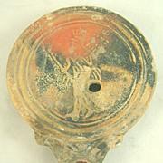 Roman Lamp with Legionary Soldier, circa 1st century AD