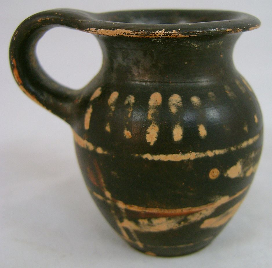 Greek Xenonware Trefoil Jug with Bands, circa 4th-3rd c. BC